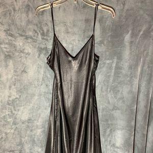 NWOT Victoria's Secret Black Tie Up Sides Gown S-L